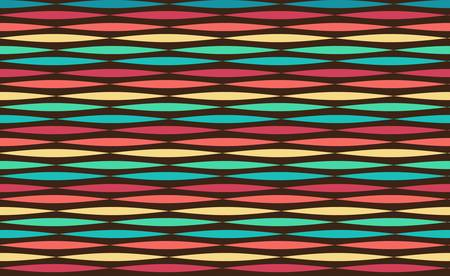 abstract ethnic seamless geometric pattern  Colorful illustration Vector