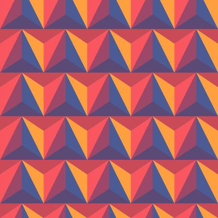 3d abstract pyramidal background  Colorful illustration Stock Vector - 12483553