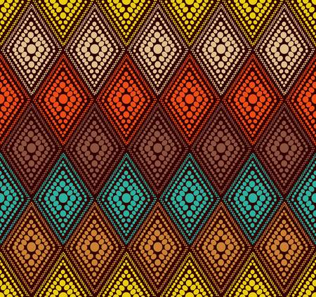 repetition: abstract color dot geometric pattern  Colorful illustration