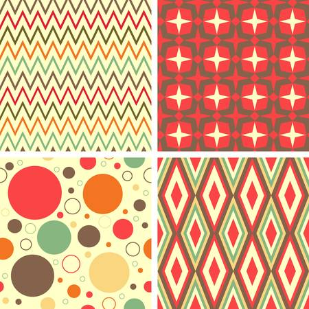 retro circles: Abstract geometric pattern set  Colorful illustration Illustration