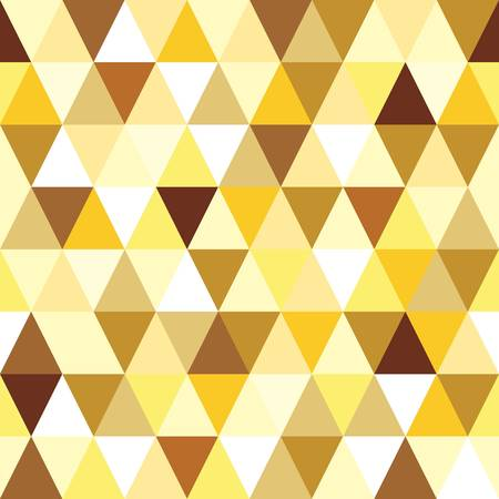 abstract gold seamless triangle pattern illustration Vector