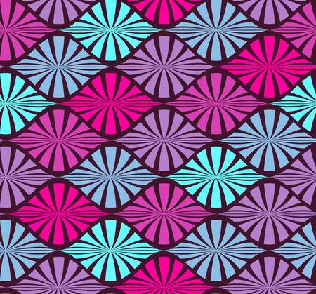 abstract color seamless geometric pattern  Colorful illustration Vector