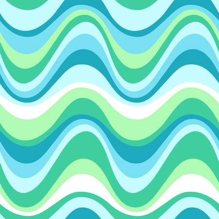 Geometric seamless water sea pattern  Colorful illustration Vector