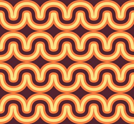 Geometric seamless geometric wave background  Colorful vector illustration Vector