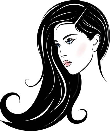 salon background: beautiful woman face Illustration