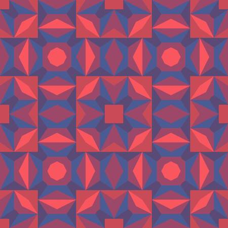 multi ethnic: abstract color seamless geometric background Illustration