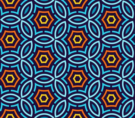 multi ethnic: abstract technology seamless background  Colorful vector illustration Illustration