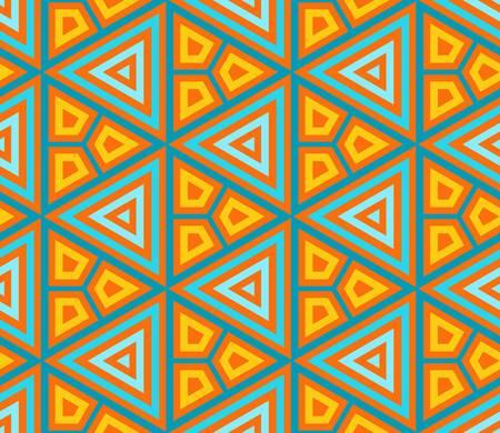 abstracto del vector étnica de fondo sin fisuras ilustración vectorial colorido
