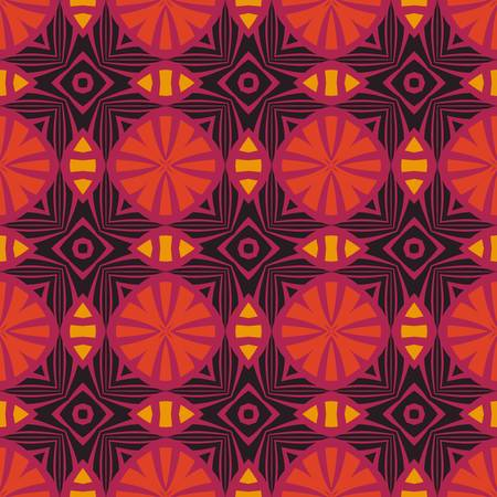 african fabric: abstract ethnic vector seamless background  Colorful vector illustration