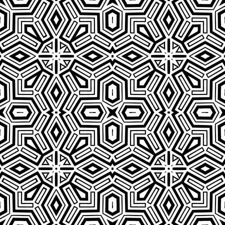 celtic pattern: abstract ethnic vector seamless background  Vector illustration Illustration