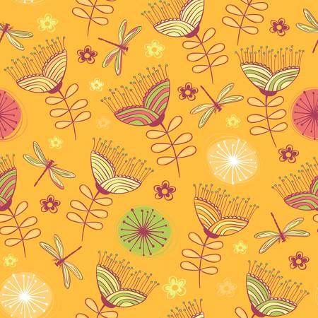 seamless vintage flower pattern background  Vector illustration Vector