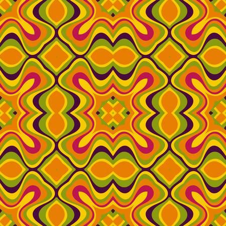 abstract ethnic vector seamless background  Vector illustration Illustration