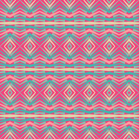 ethnic pattern: abstract ethnic vector seamless background  Vector illustration Illustration