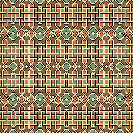 fashion design: abstract ethnic seamless background illustration Illustration