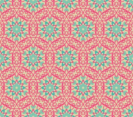대칭: 추상 빈티지 패턴 벽지 원활한 배경 벡터 일러스트 레이 션