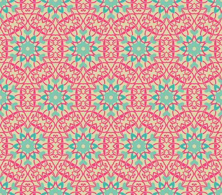 symmetrical design: abstract vintage pattern wallpaper seamless background  Vector illustration