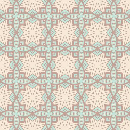 african fabric: abstract vintage geometric wallpaper pattern seamless background  Vector illustration
