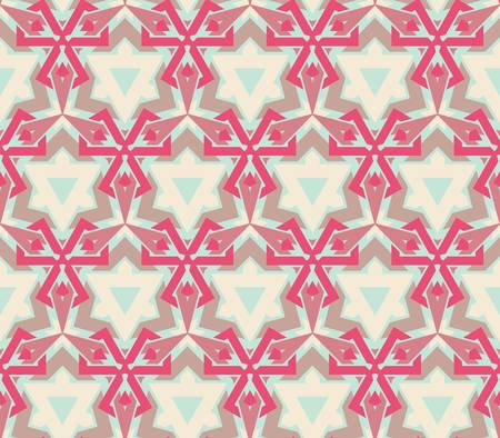 african fabric: abstract vintage geometric wallpaper pattern seamless background Illustration