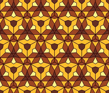 fabric texture: abstract vintage geometric wallpaper pattern seamless background  Vector illustration