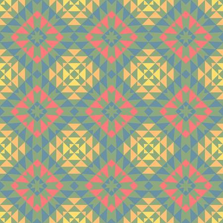 abstract vintage geometric wallpaper pattern seamless background  Vector illustration Stock Vector - 15236387