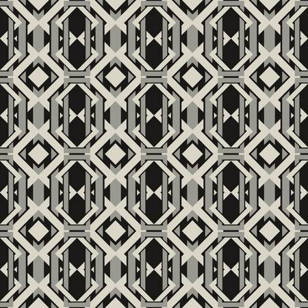 abstract vintage geometric wallpaper pattern seamless background  Vector illustration