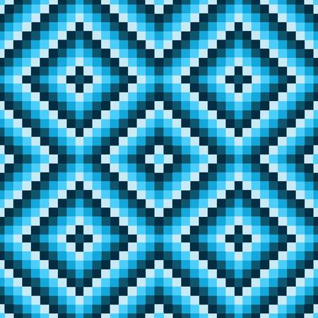 pixel art: pixel modern geometric seamless pattern ornament background print design Illustration