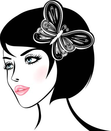 beauty woman portrait  design element  Vector Illustration Vector