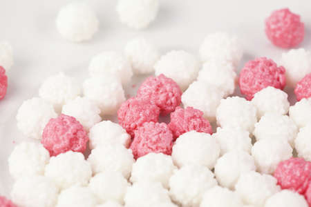 sugarcoated: The background of multicolored dragee close-up Stock Photo