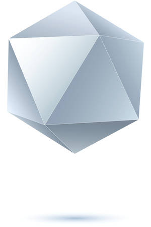 icosahedron: grayscale icosahedron for graphic design  Illustration