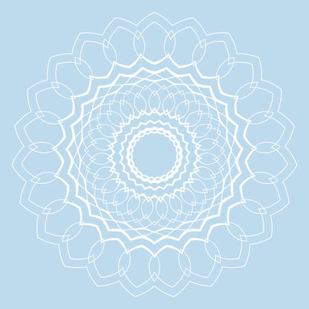 Contemporary doily round lace floral pattern card, circle, mandala