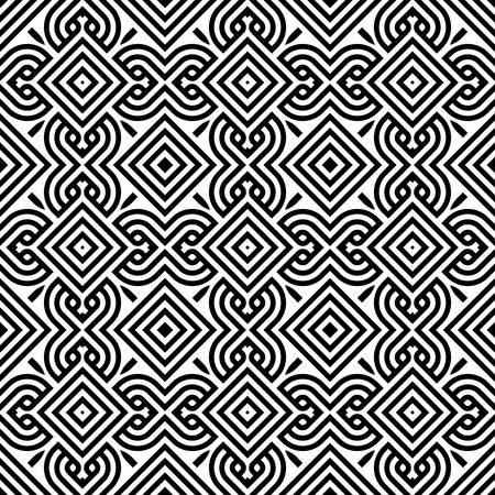 vitrage: decorative modern geometric seamless pattern ornament illustration background print design