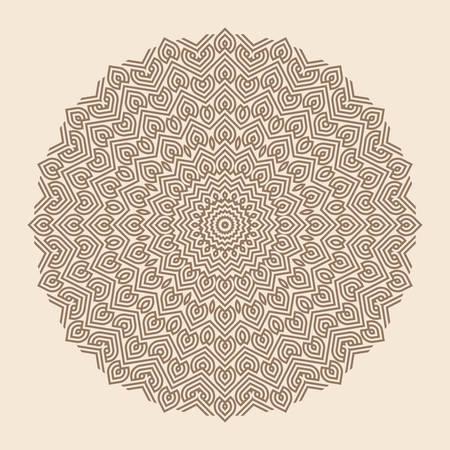 mandala: Contemporary doily round lace floral pattern card, circle, mandala