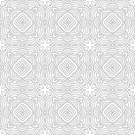 decorative modern geometric seamless pattern ornament illustration background print design Vector