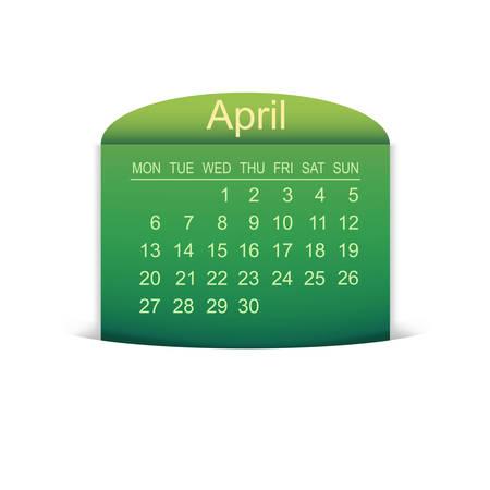 4월: Calendar April 2015.