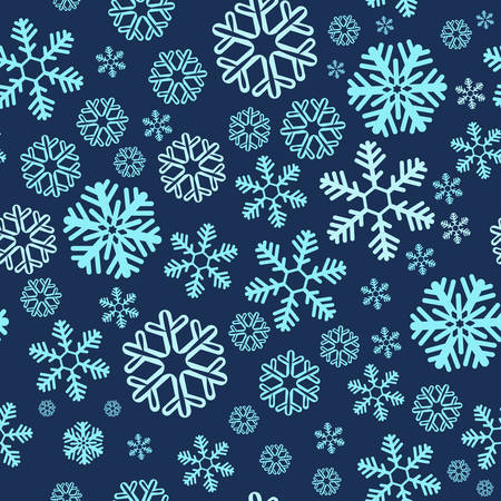 Christmas blue snowy abstract background. Design element