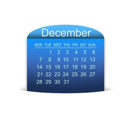 december kalender: Kalender december 2015. Vector illustratie. Design element.