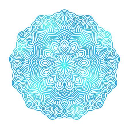 mandala: winter celtic knot doily round lace floral pattern card, circle, mandala, amulet Illustration
