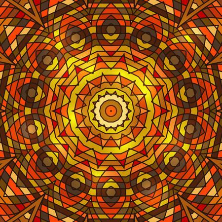 winter celtic knot doily round lace floral pattern card, circle, mandala, amulet Illustration