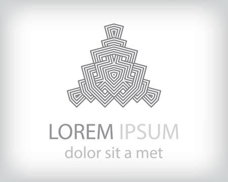 triple: black and white logo design element. Vector illustration