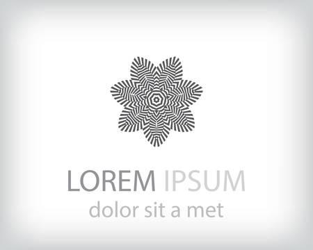 art logo: black and white logo design element. Vector illustration
