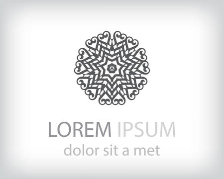 the element: black and white logo design element. Vector illustration