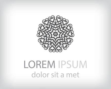 elemento: in bianco e nero elemento logo design. Illustrazione vettoriale