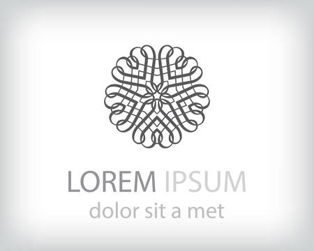 logo element: black and white logo design element. Vector illustration