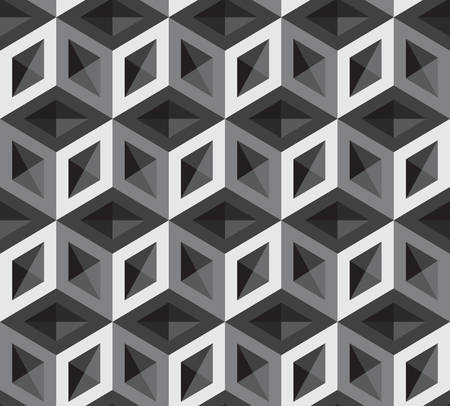 optical illusion: 3d cubes pattern illustration. Background and Backdrop.