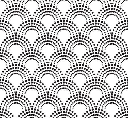 pattern geometric: geometric pattern with dotted arches.  Illustration