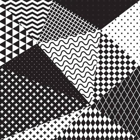 pattern geometric: black and white geometric seamless pattern. Vector illustration.