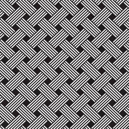 diagonal lines: interlacing pattern. Geometric seamless pattern ornament background print design Illustration
