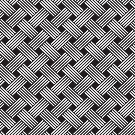 interlacing pattern. Geometric seamless pattern ornament background print design Illustration