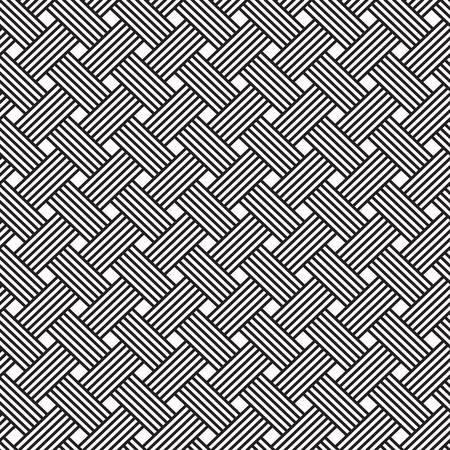 interlacing: interlacing pattern. Geometric seamless ornament background print design Illustration