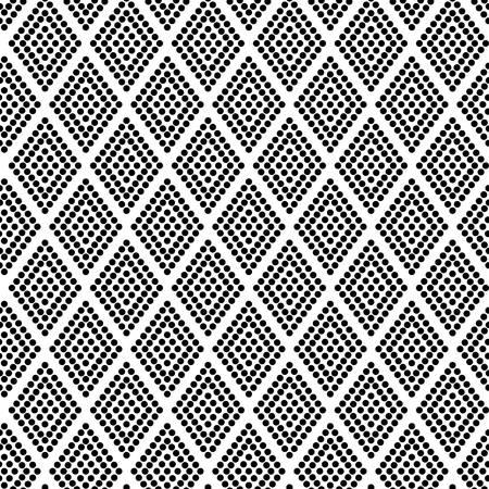 semicircle: Geometric seamless pattern ornament background print design. Rhombus dots